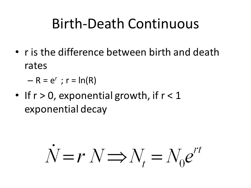 Birth-Death Continuous