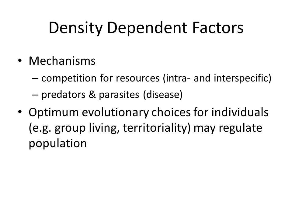 Density Dependent Factors
