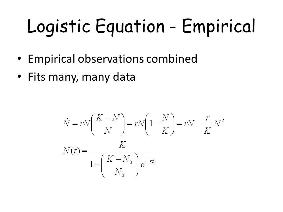 Logistic Equation - Empirical