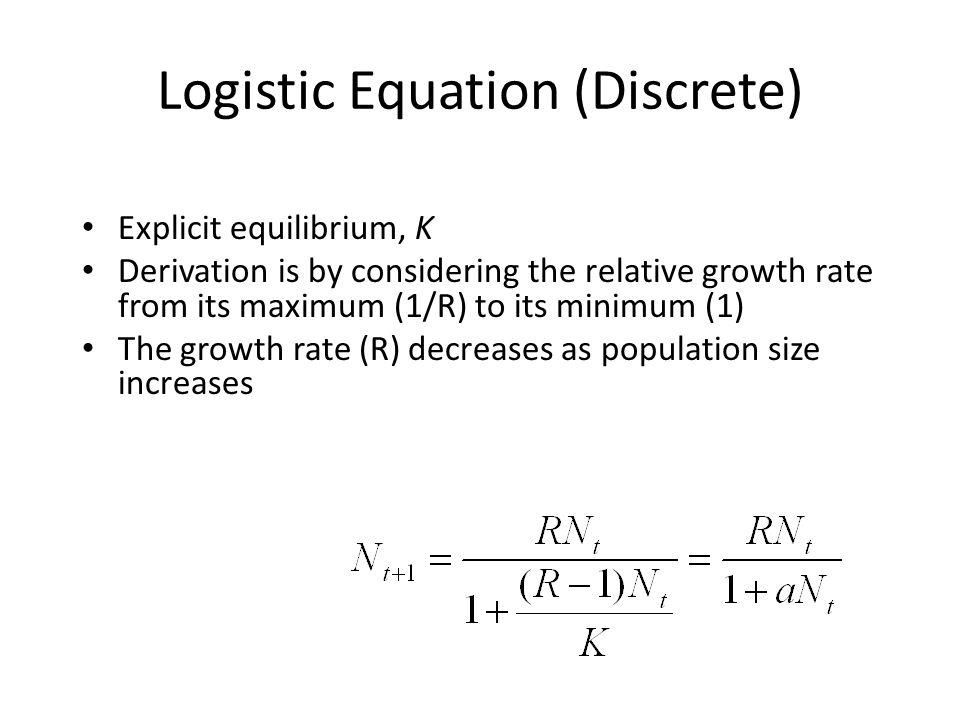 Logistic Equation (Discrete)