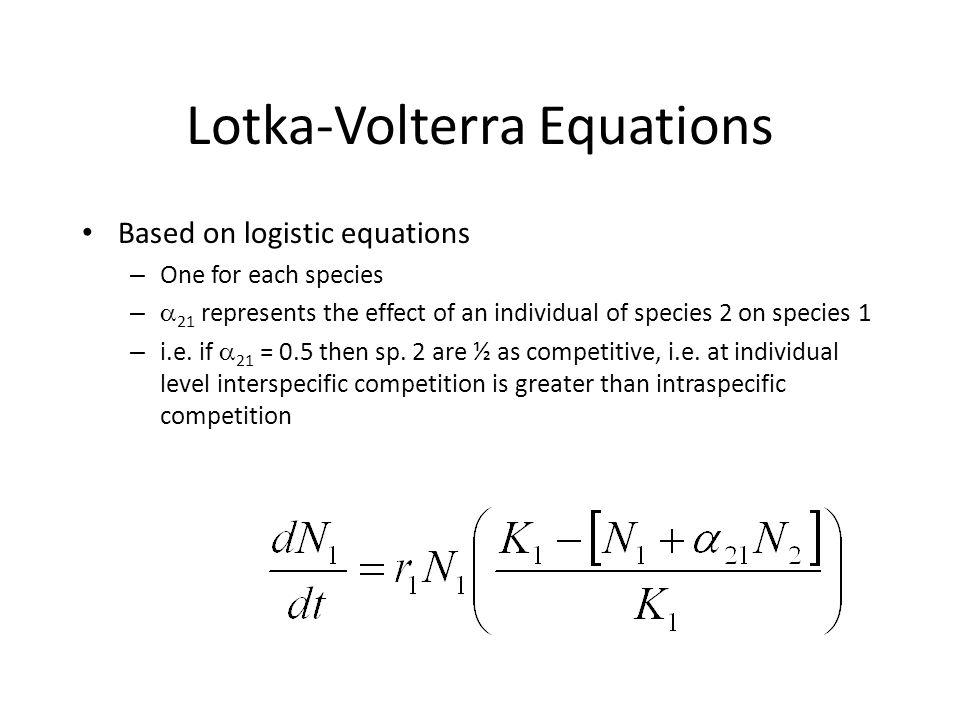 Lotka-Volterra Equations
