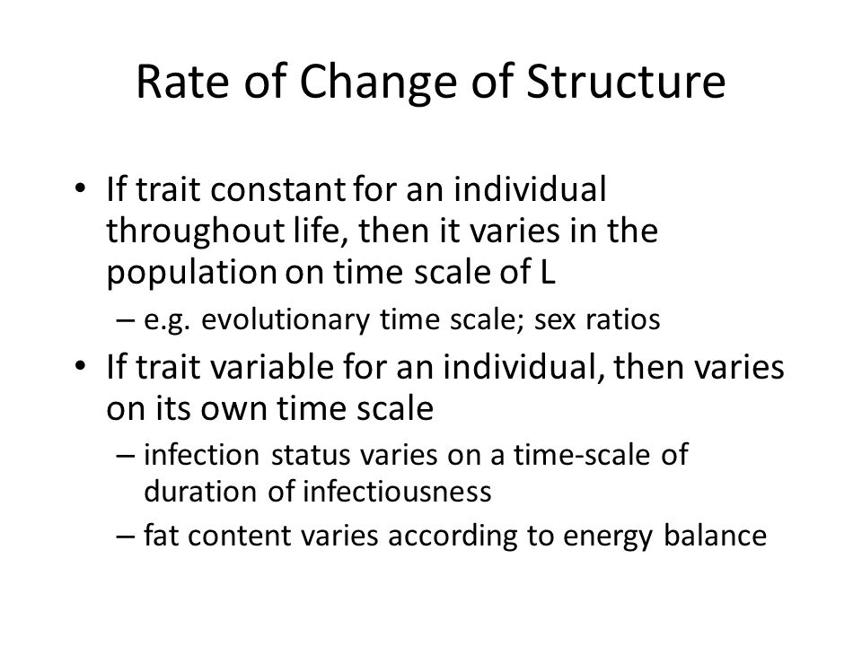 Rate of Change of Structure