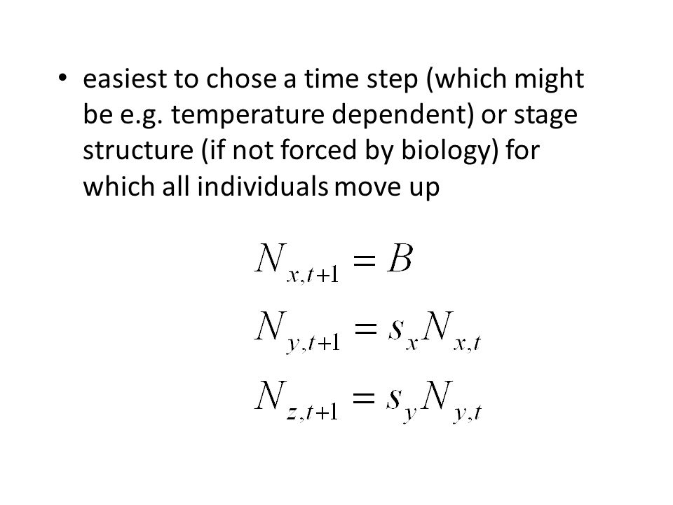 easiest to chose a time step (which might be e. g