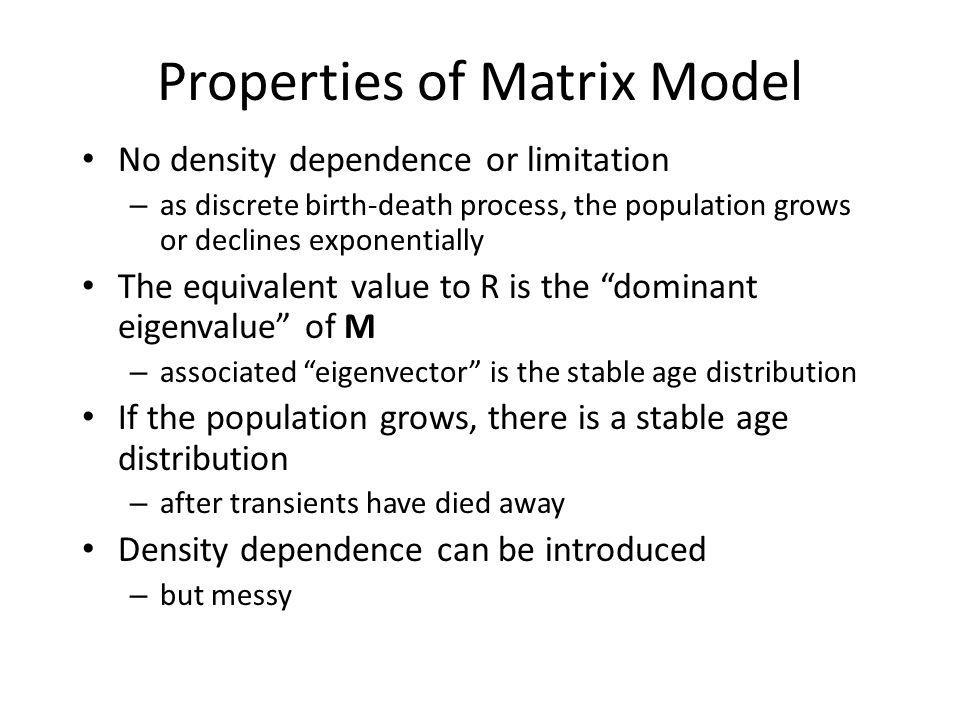 Properties of Matrix Model