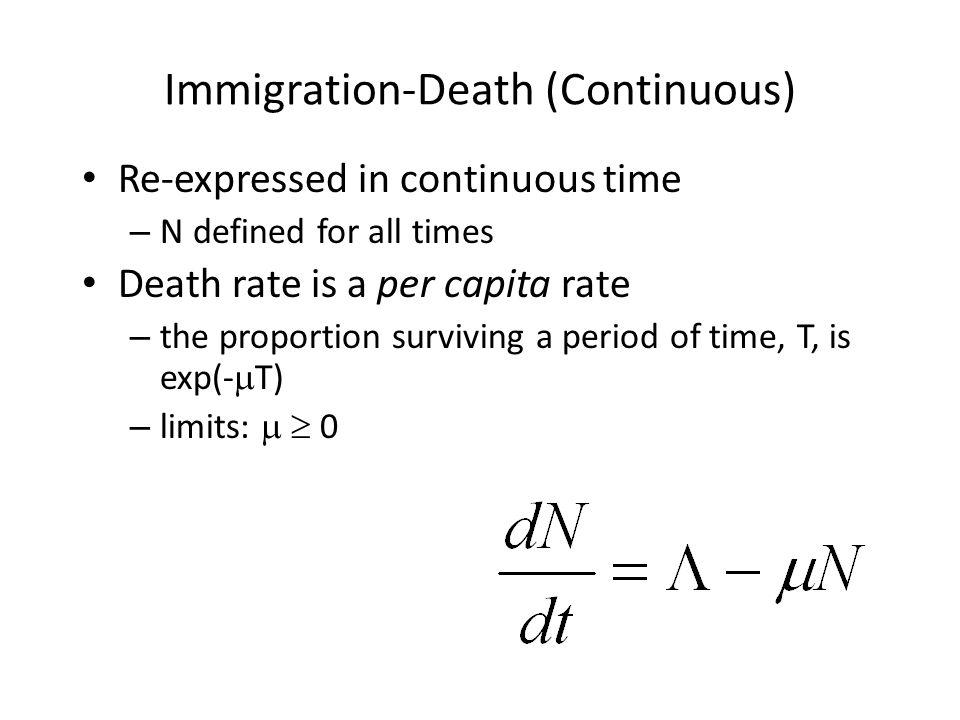 Immigration-Death (Continuous)