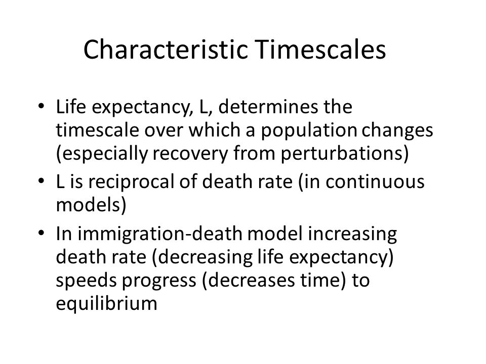 Characteristic Timescales