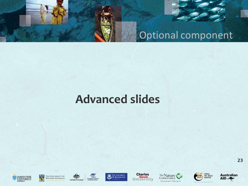 Optional component Advanced slides
