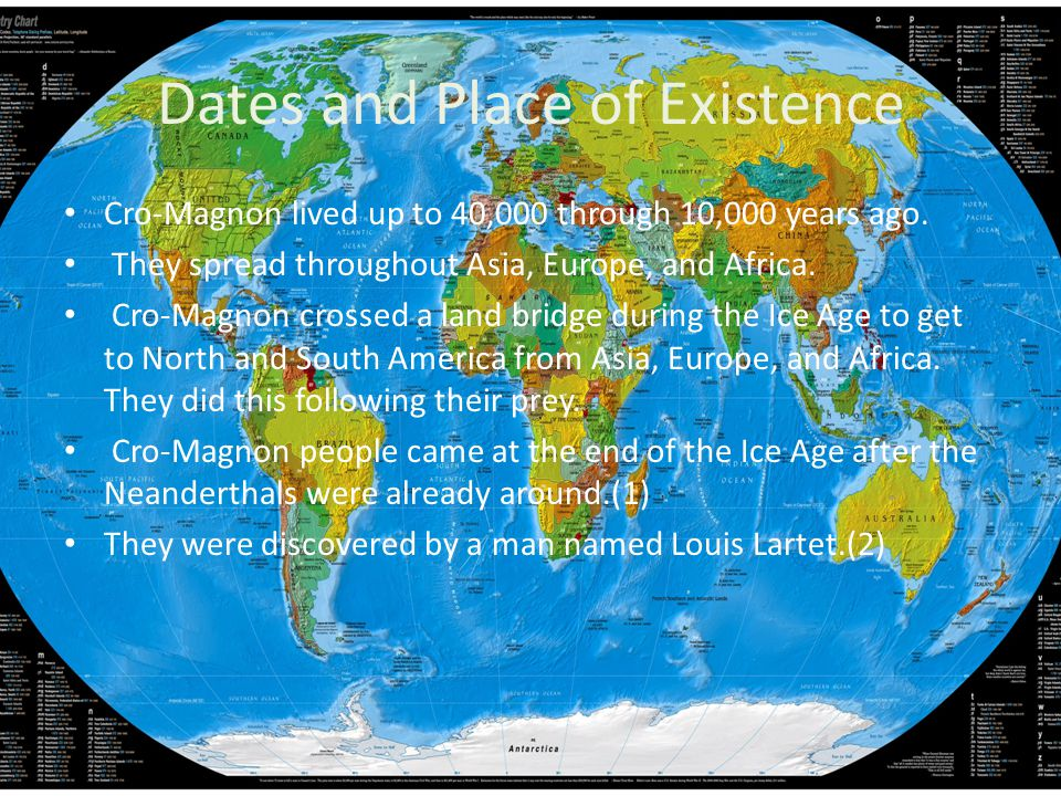 Dates and Place of Existence