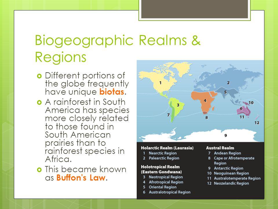 Biogeographic Realms & Regions