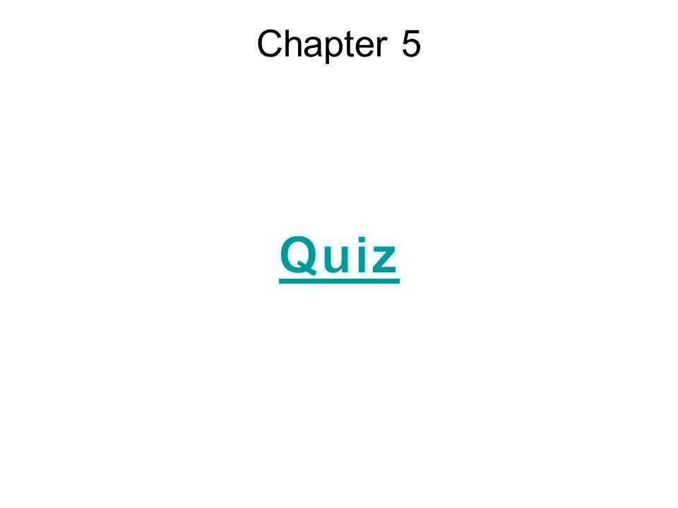 Chapter 5 Quiz