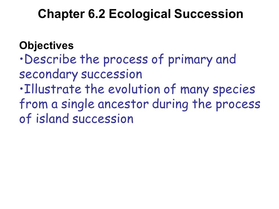 Chapter 6.2 Ecological Succession