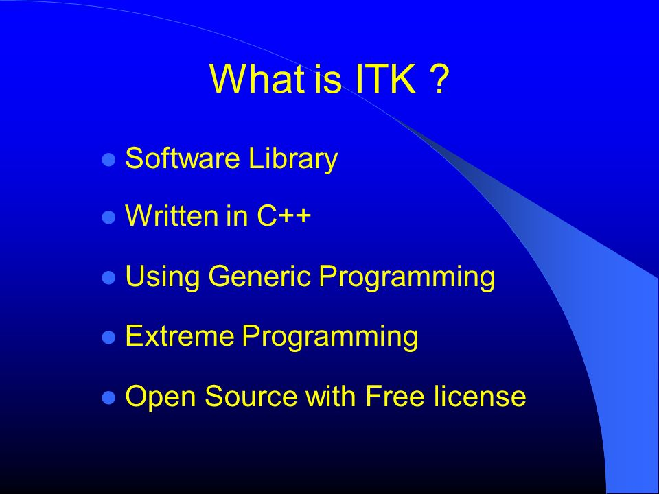 What is ITK Software Library Written in C++