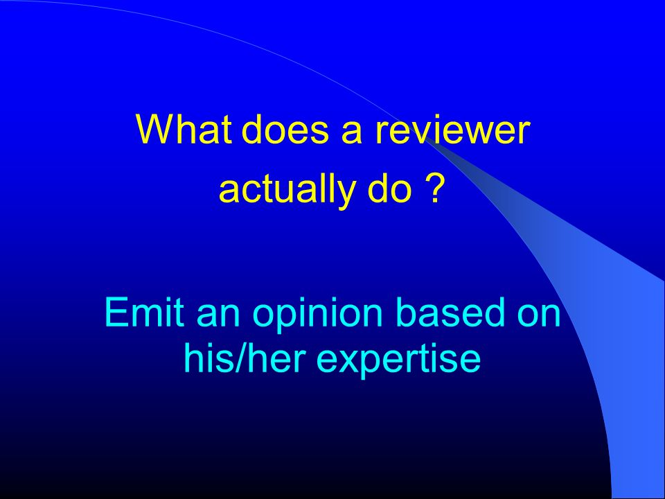 What does a reviewer actually do
