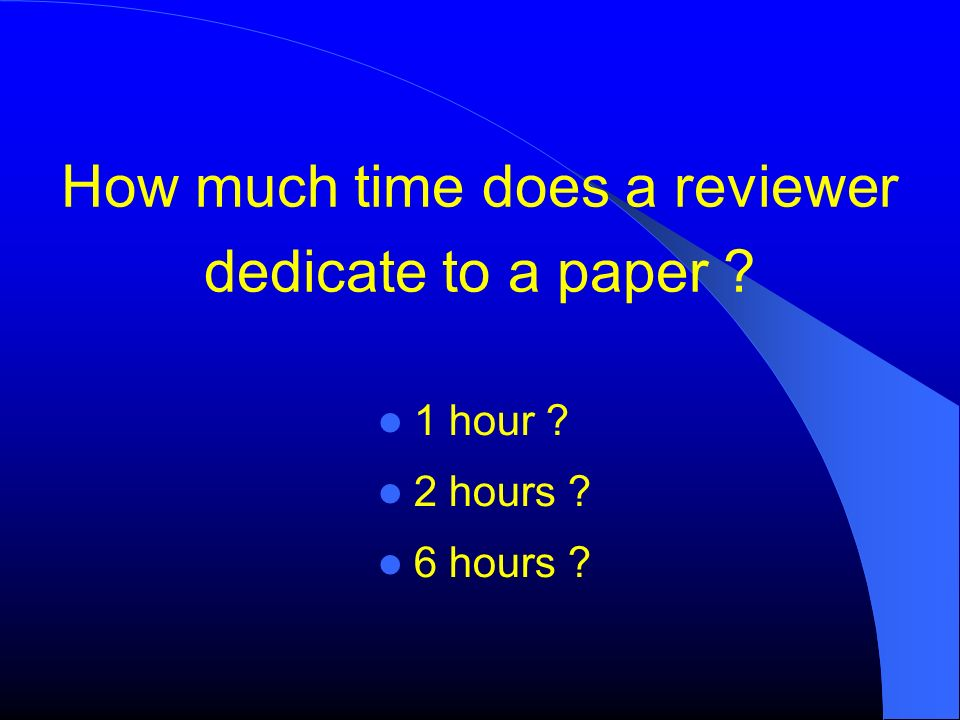 How much time does a reviewer dedicate to a paper
