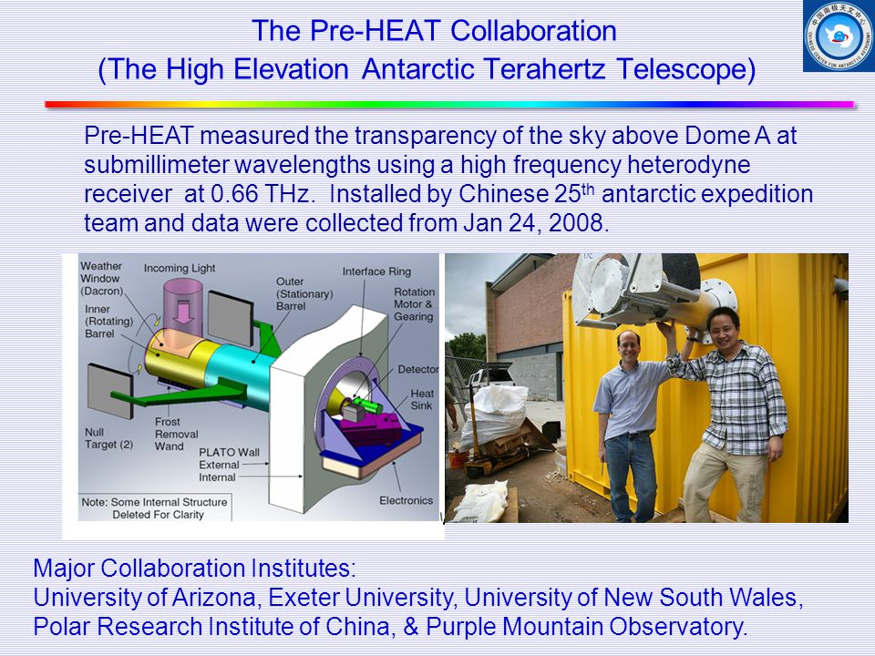The Pre-HEAT Collaboration (The High Elevation Antarctic Terahertz Telescope)