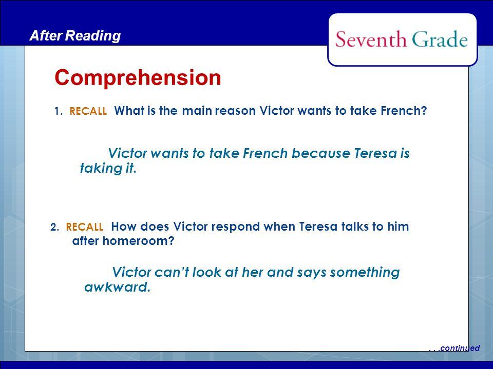 Comprehension After Reading