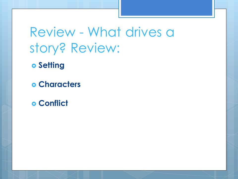 Review - What drives a story Review: