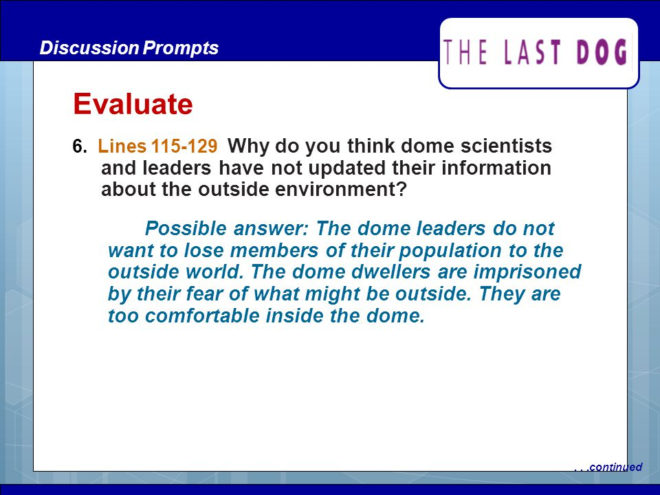 Discussion Prompts Evaluate.