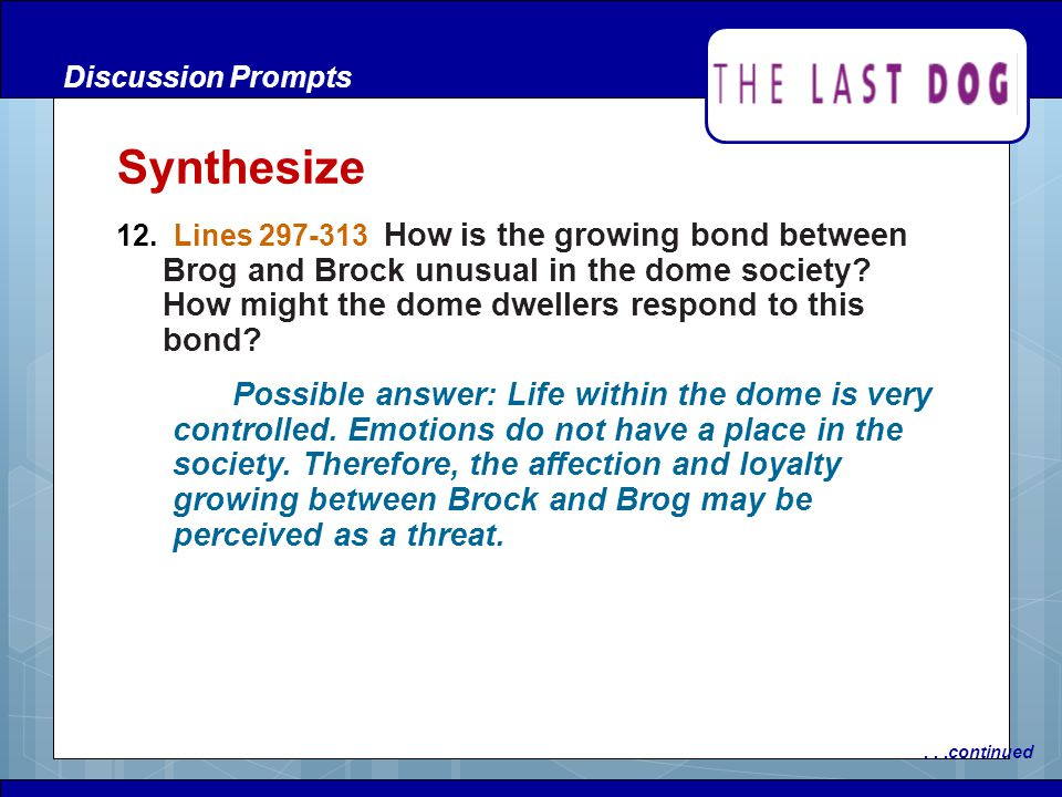 Discussion Prompts Synthesize.