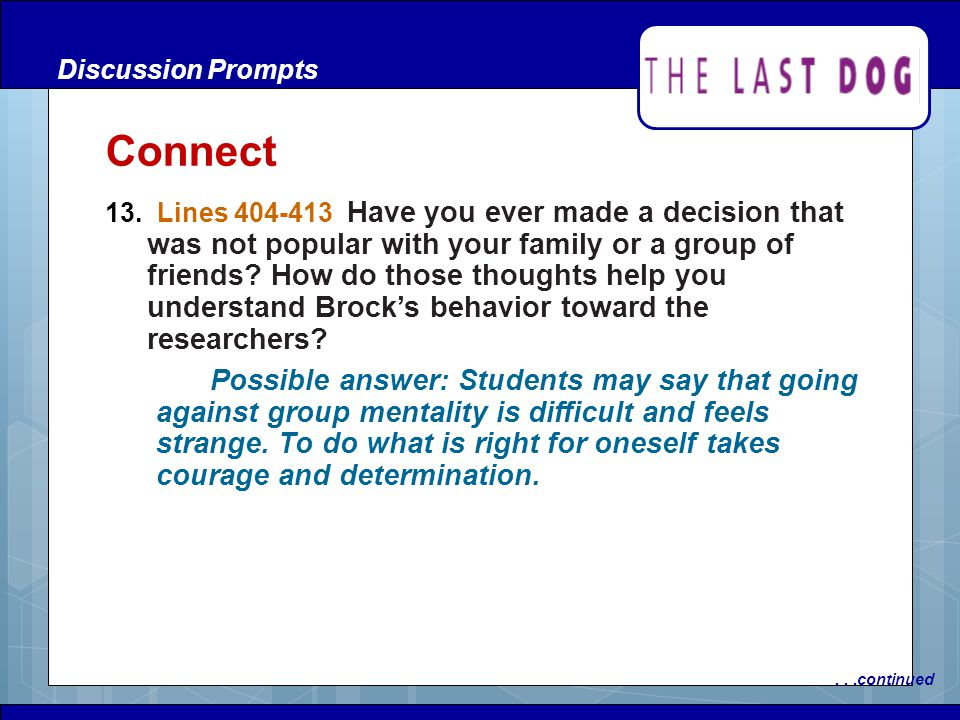 Discussion Prompts Connect.