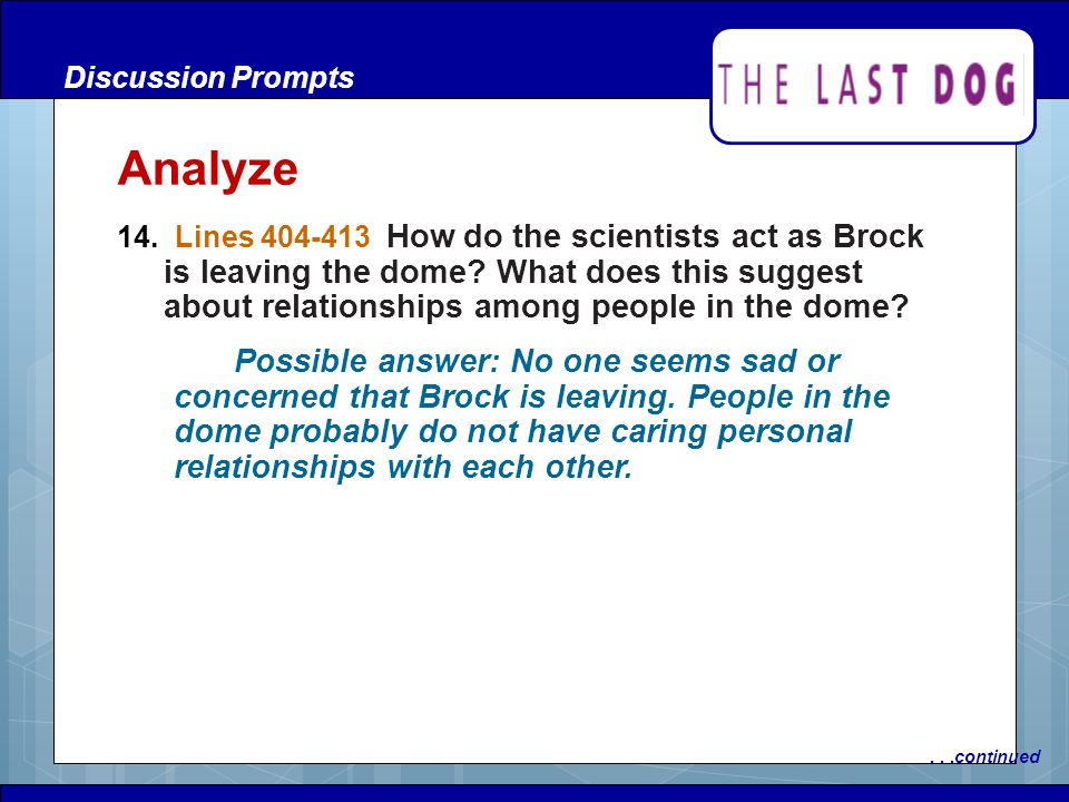 Discussion Prompts Analyze.