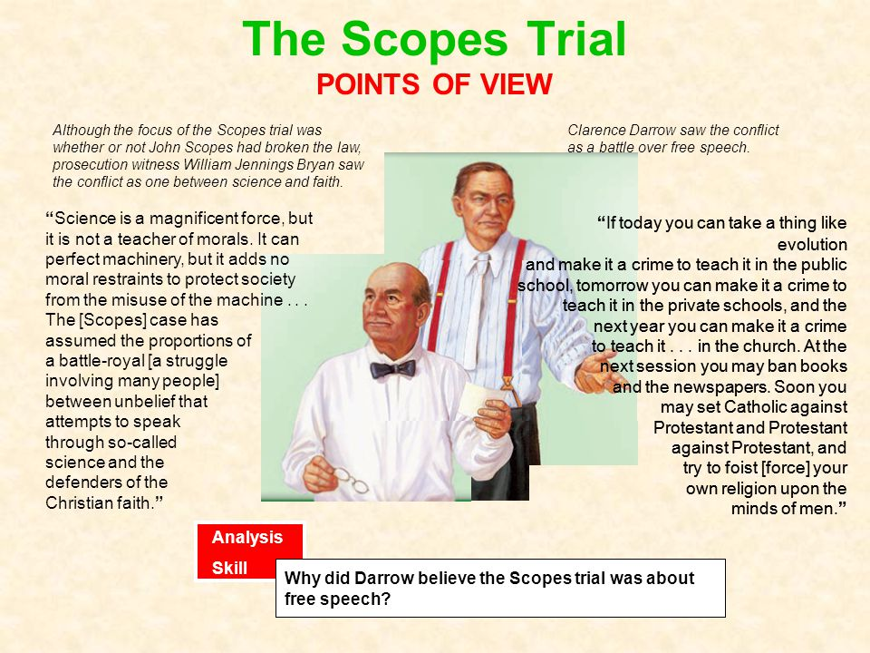 The Scopes Trial POINTS OF VIEW