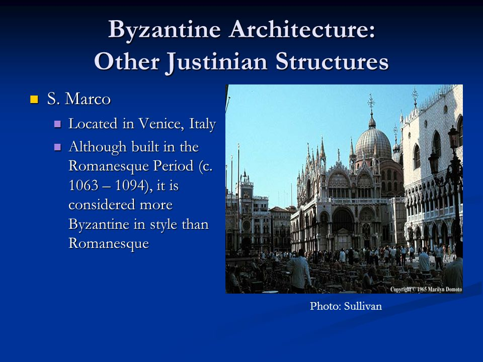 Byzantine Architecture: Other Justinian Structures
