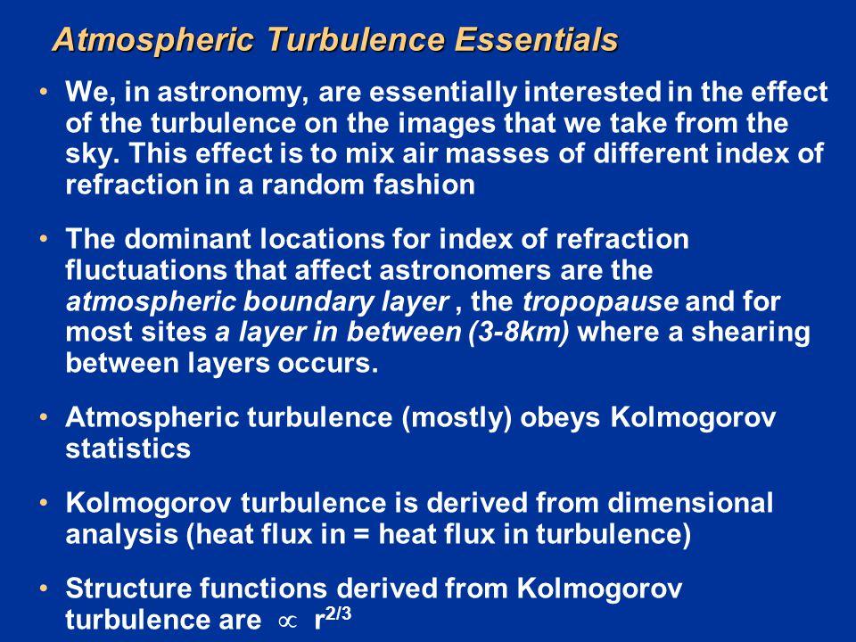 Atmospheric Turbulence Essentials