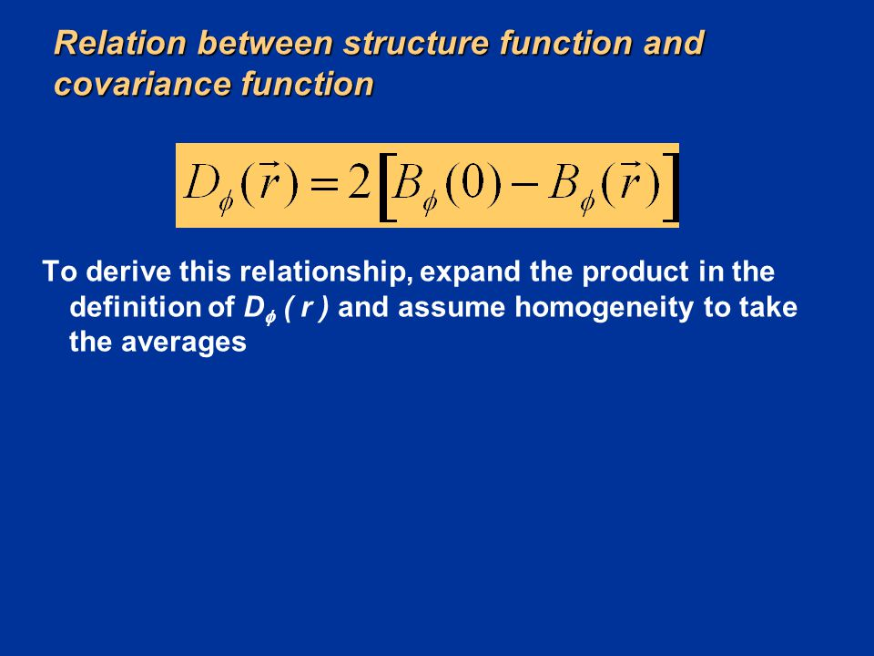 Relation between structure function and covariance function