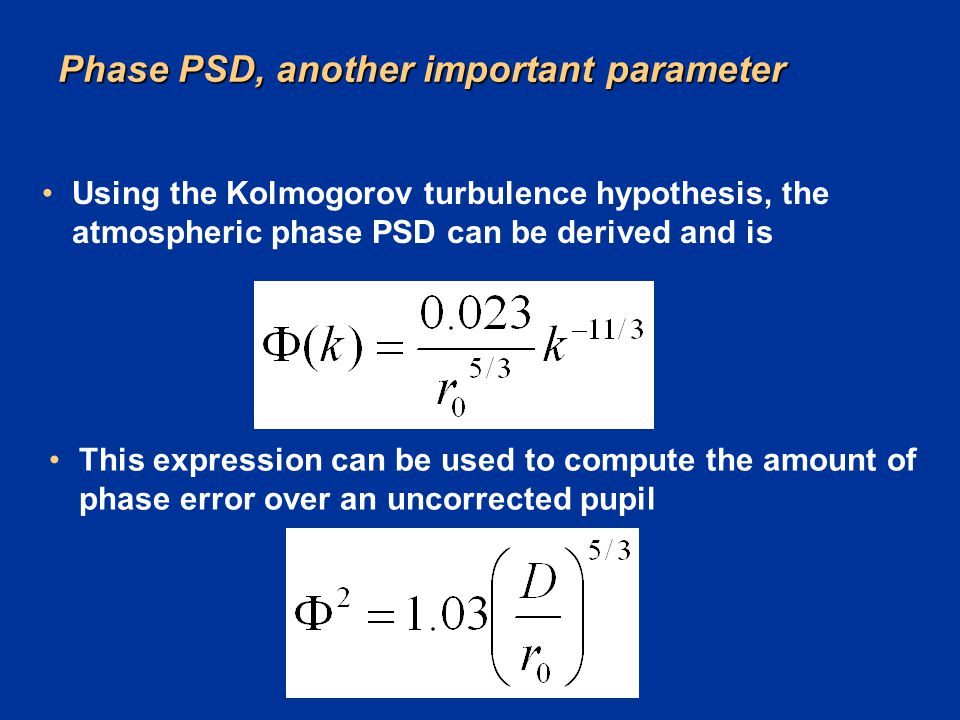 Phase PSD, another important parameter