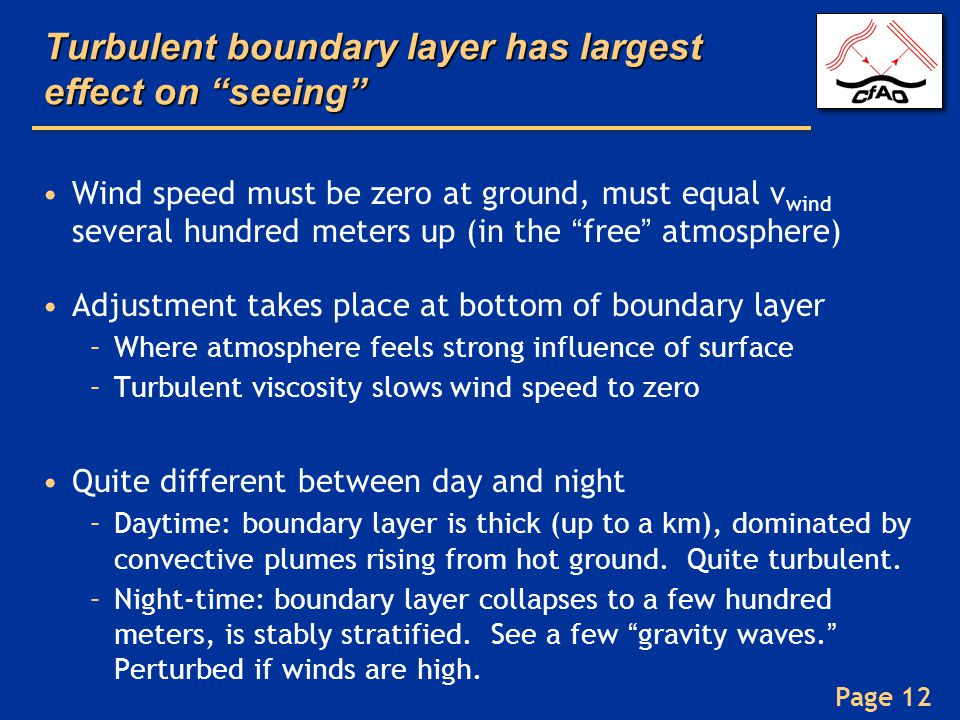 Turbulent boundary layer has largest effect on seeing
