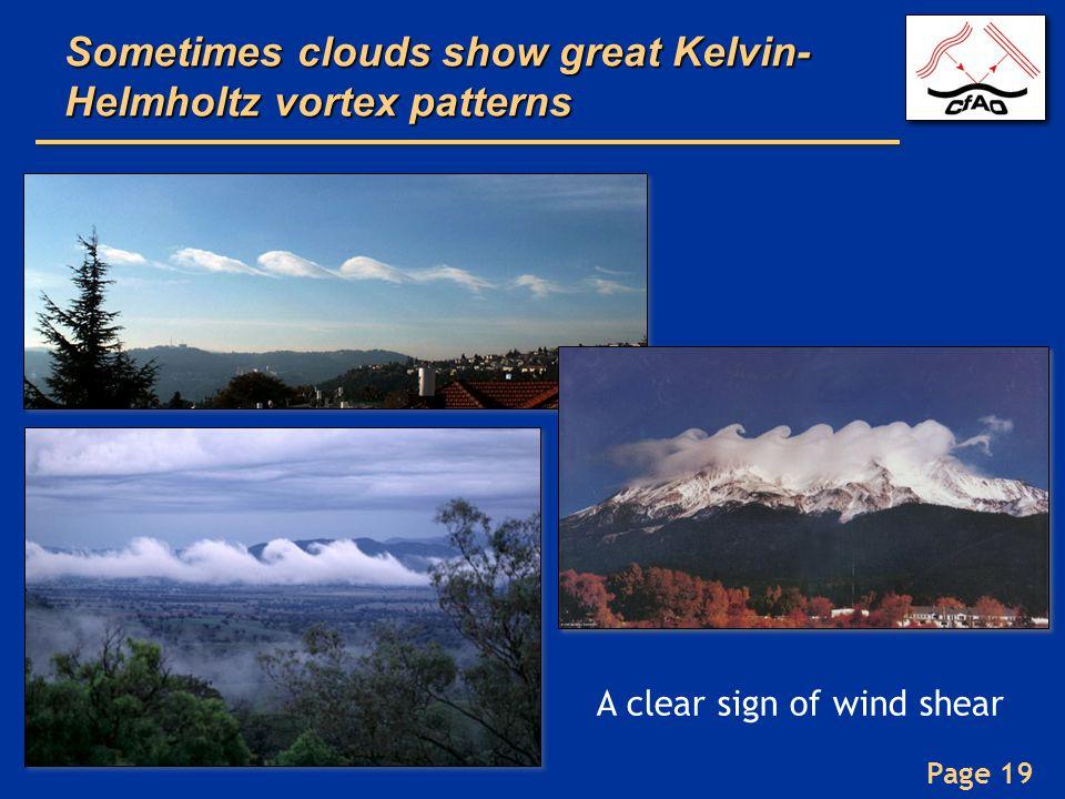 Sometimes clouds show great Kelvin-Helmholtz vortex patterns