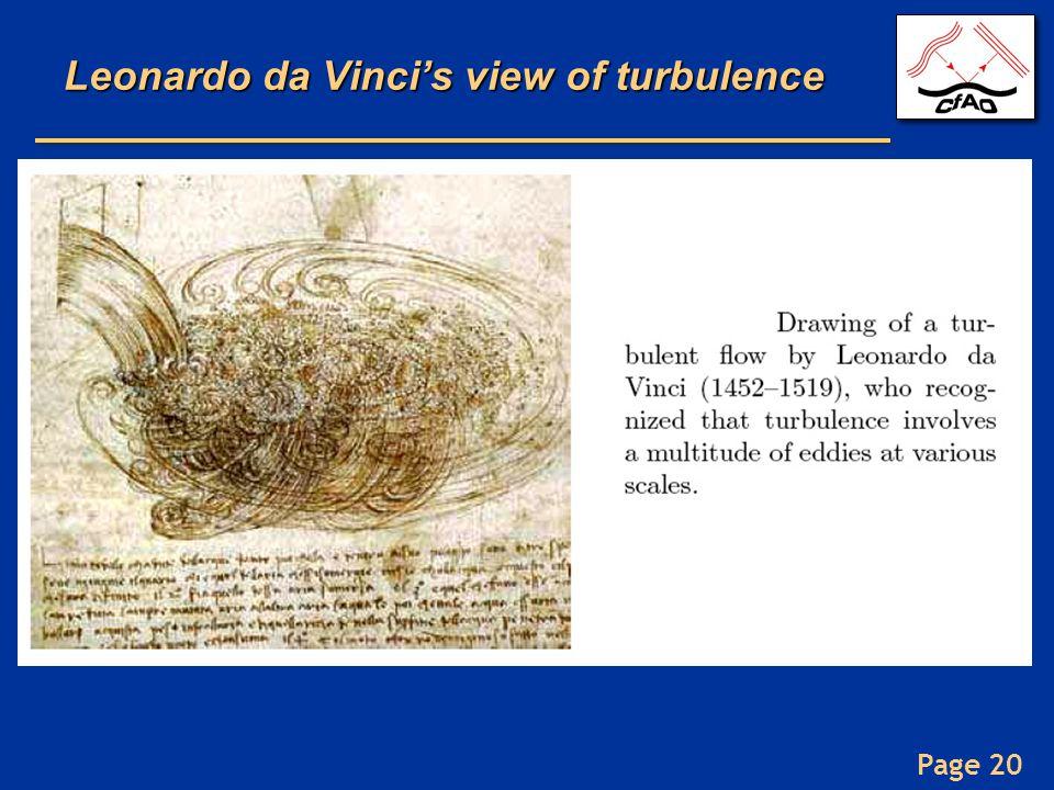 Leonardo da Vinci's view of turbulence