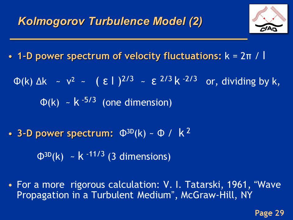 Kolmogorov Turbulence Model (2)