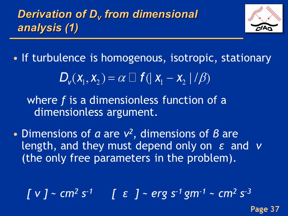 Derivation of Dv from dimensional analysis (1)