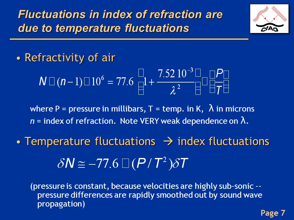Temperature fluctuations  index fluctuations