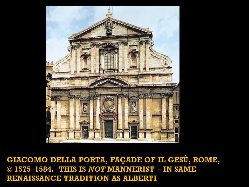 GIACOMO DELLA PORTA, façade of Il Gesù, Rome,