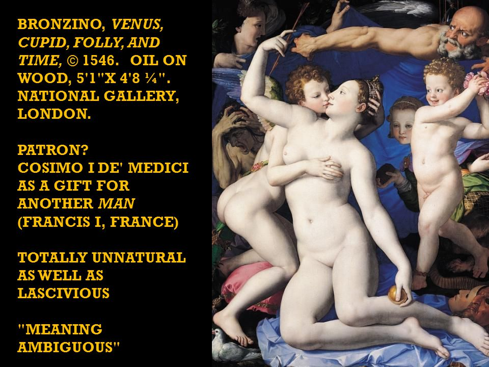 BRONZINO, Venus, Cupid, Folly, and Time, © 1546