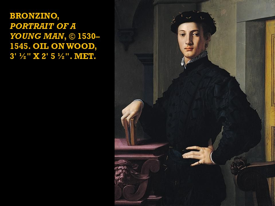 BRONZINO, Portrait of a Young Man, © 1530–1545