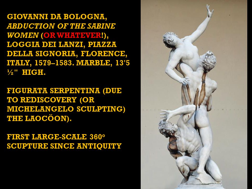 GIOVANNI DA BOLOGNA, Abduction of the Sabine Women (OR WHATEVER