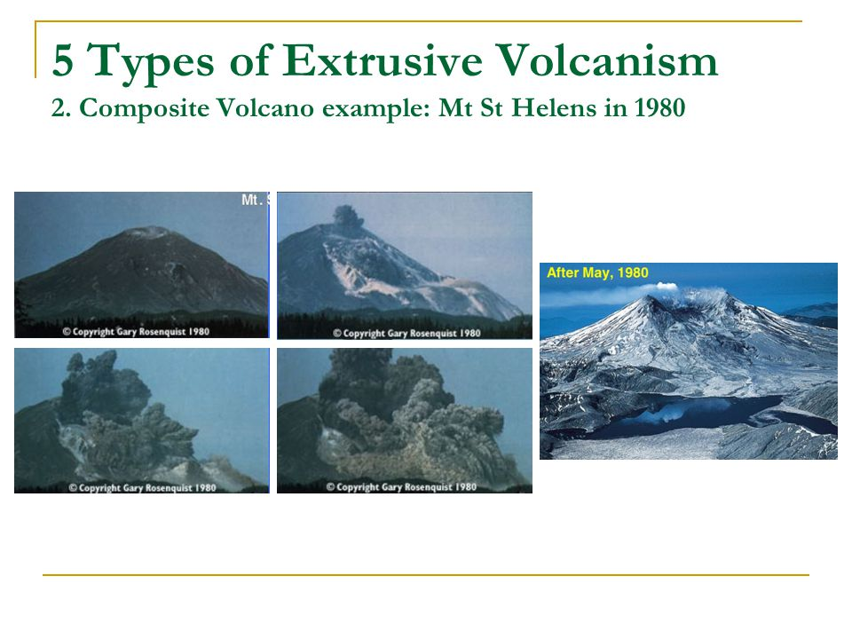 5 Types of Extrusive Volcanism 2