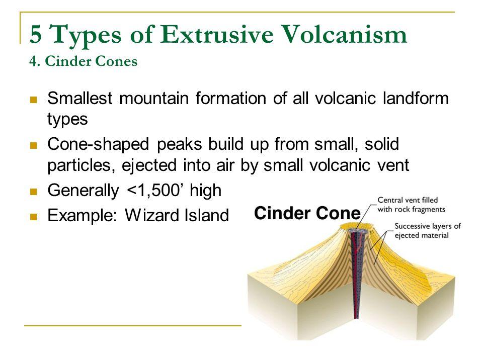 5 Types of Extrusive Volcanism 4. Cinder Cones