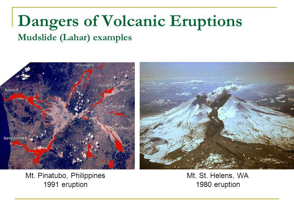 Dangers of Volcanic Eruptions Mudslide (Lahar) examples