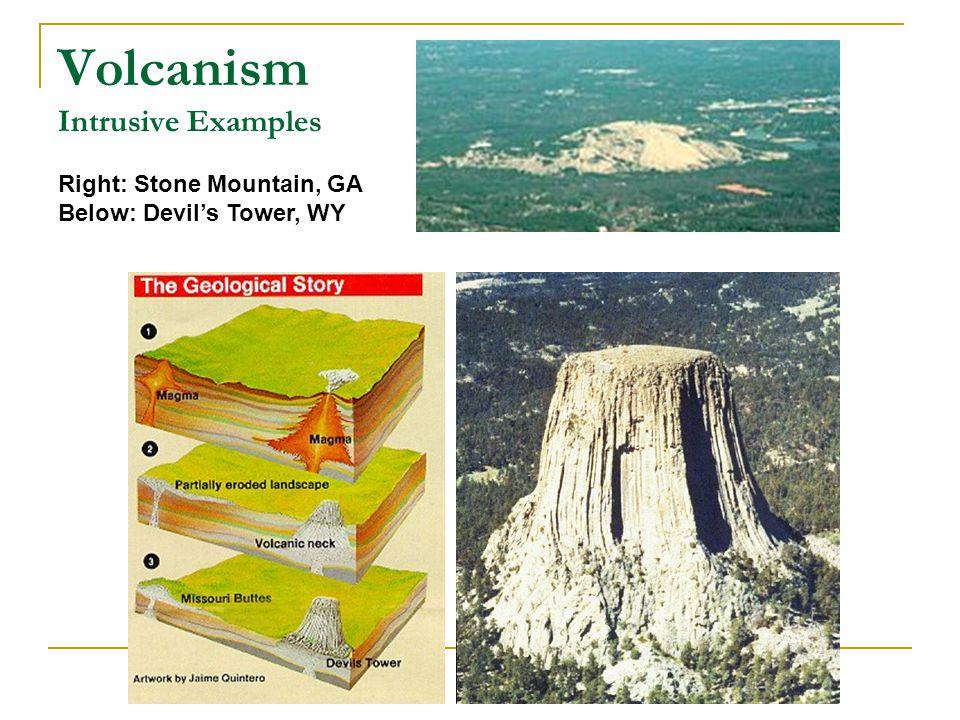 Volcanism Intrusive Examples