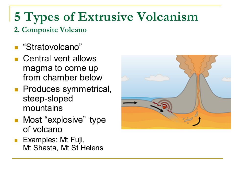 5 Types of Extrusive Volcanism 2. Composite Volcano