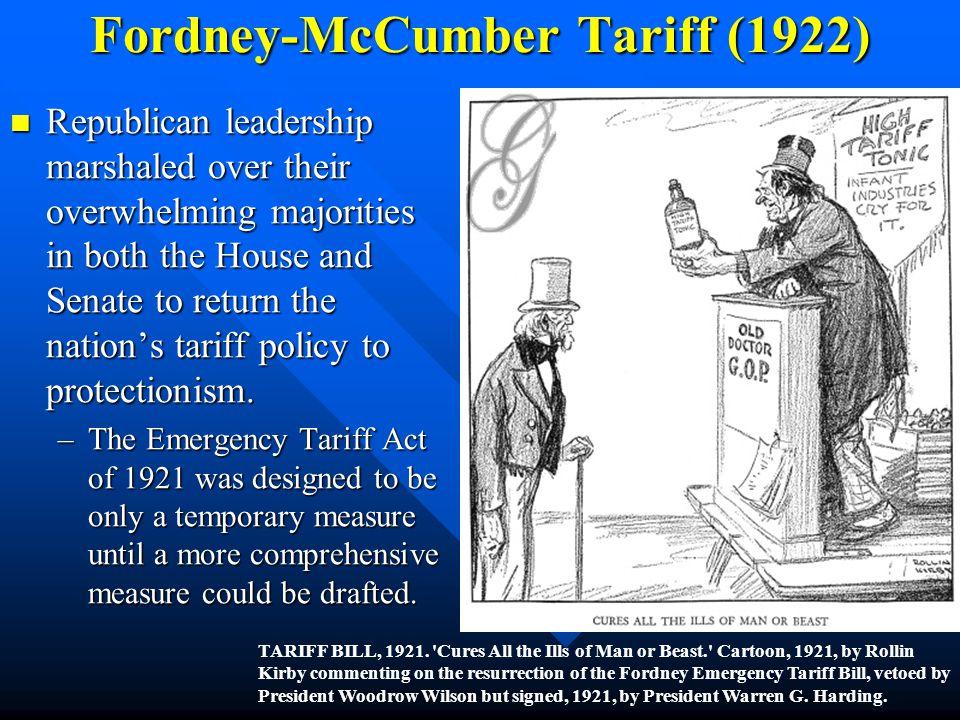 Fordney-McCumber Tariff (1922)