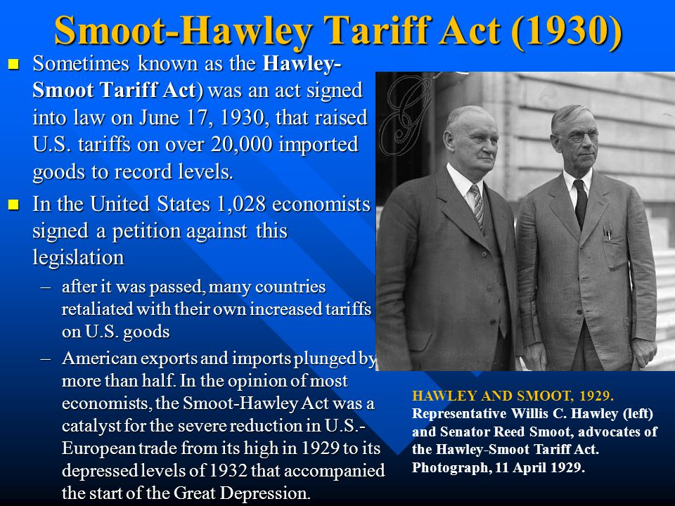 Smoot-Hawley Tariff Act (1930)