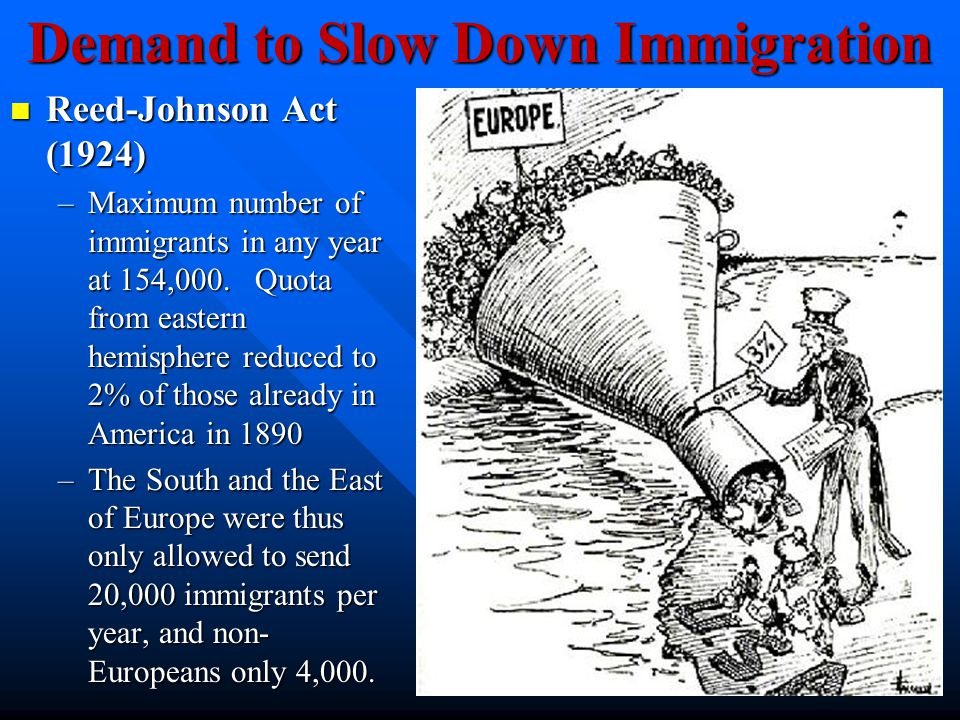 Demand to Slow Down Immigration