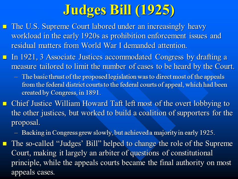 Judges Bill (1925)