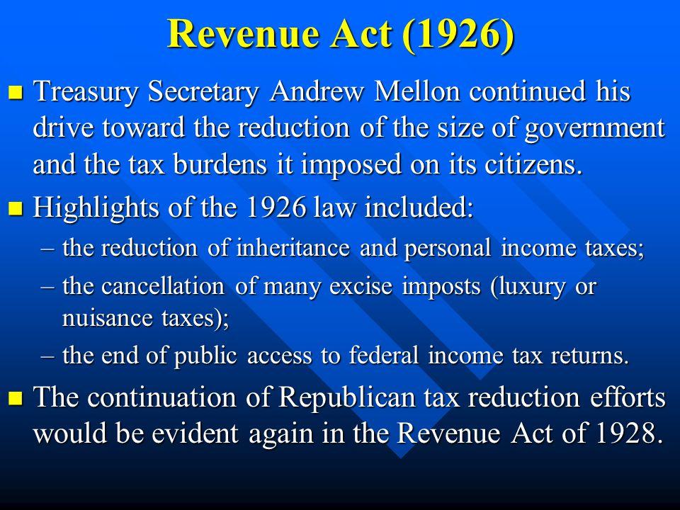 Revenue Act (1926)